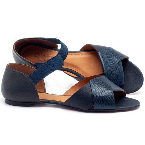 Laranja_Lima_Shoes_Sapatos_Femininos_Sapatilha_Peep_Toe_em_Couro_Azul_-_Codigo_-_56122_1