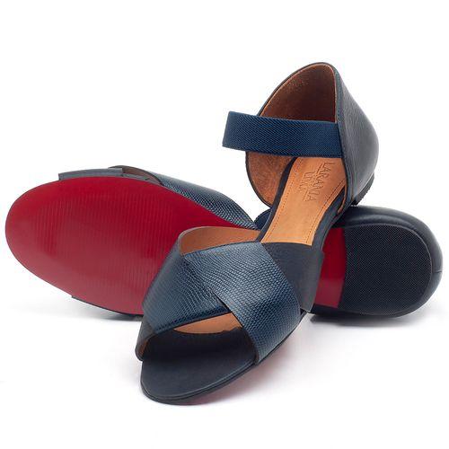 Laranja_Lima_Shoes_Sapatos_Femininos_Sapatilha_Peep_Toe_em_Couro_Azul_-_Codigo_-_56122_2