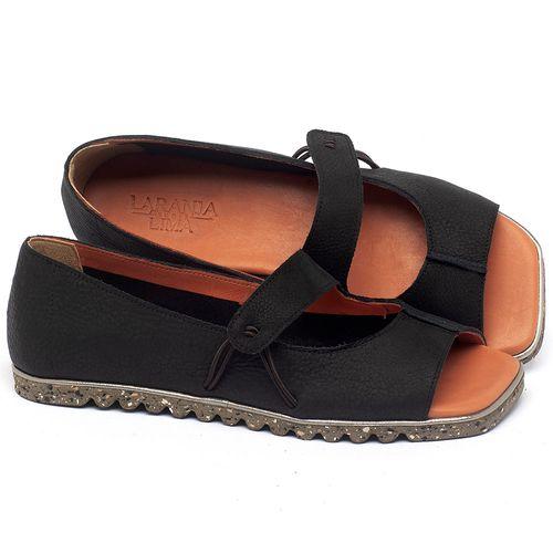 Laranja_Lima_Shoes_Sapatos_Femininos_Sapatilha_Peep_Toe_em_Couro_Preto_-_Codigo_-_145050_1