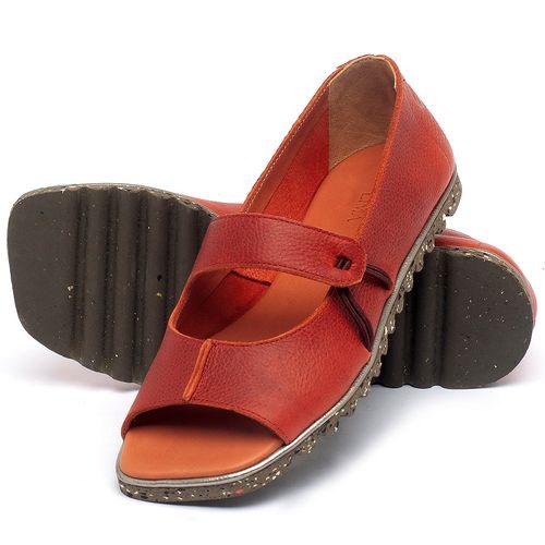 Laranja_Lima_Shoes_Sapatos_Femininos_Sapatilha_Peep_Toe_em_Couro_Vermelho_-_Codigo_-_145050_2