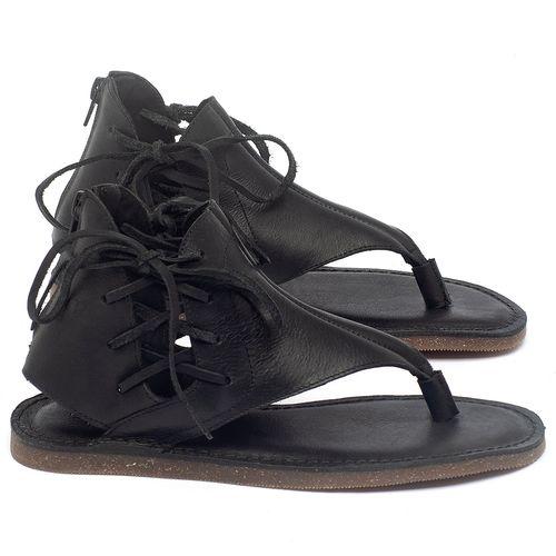Laranja_Lima_Shoes_Sapatos_Femininos_Sandalia_Rasteira_Flat_em_Couro_Preto_-_Codigo_-_141114_1