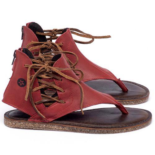 Laranja_Lima_Shoes_Sapatos_Femininos_Sandalia_Rasteira_Flat_em_Couro_Vermelho_-_Codigo_-_141114_1