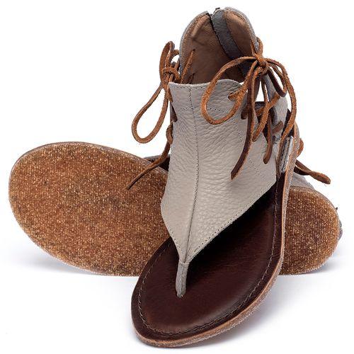 Laranja_Lima_Shoes_Sapatos_Femininos_Sandalia_Rasteira_Flat_em_Couro_Cinza_-_Codigo_-_141114_2