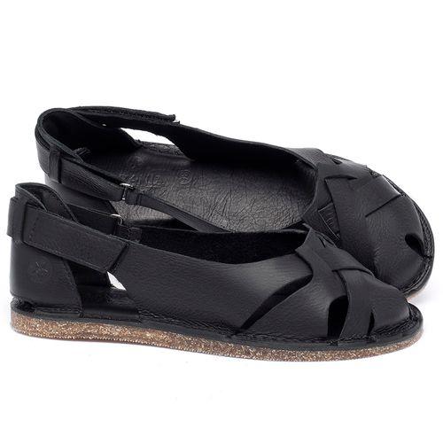 Laranja_Lima_Shoes_Sapatos_Femininos_Sandalia_Rasteira_Flat_em_Couro_Preto_-_Codigo_-_141059_1