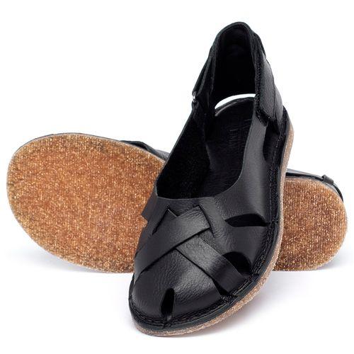 Laranja_Lima_Shoes_Sapatos_Femininos_Sandalia_Rasteira_Flat_em_Couro_Preto_-_Codigo_-_141059_2