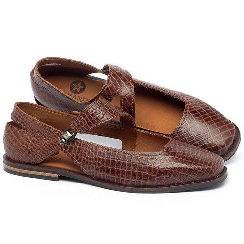 Laranja_Lima_Shoes_Sapatos_Femininos_Sapatilha_Bico_Quadrado_em_Couro_Marrom_-_Codigo_-_136091_1