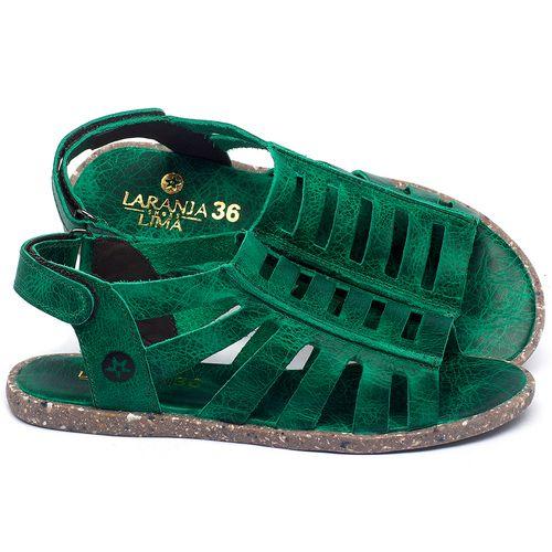 Laranja_Lima_Shoes_Sapatos_Femininos_Sandalia_Rasteira_Flat_em_Couro_Verde_-_Codigo_-_137315_1