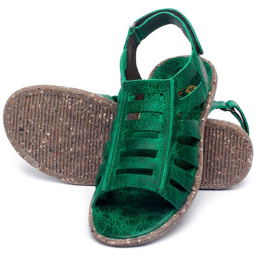 Laranja_Lima_Shoes_Sapatos_Femininos_Sandalia_Rasteira_Flat_em_Couro_Verde_-_Codigo_-_137315_2