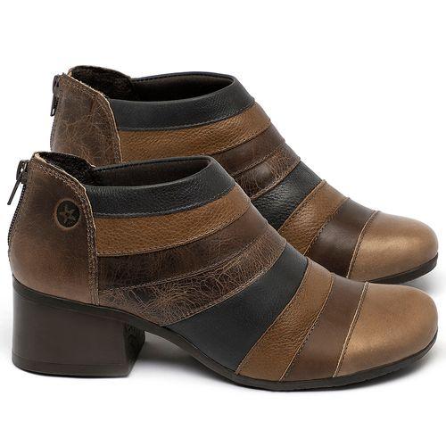Laranja_Lima_Shoes_Sapatos_Femininos_Bota_Cano_Curto_Salto_de_5_cm_em_Couro_Multicolor_-_Codigo_-_137162_1
