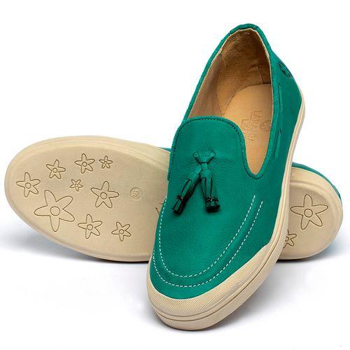 Laranja_Lima_Shoes_Sapatos_Femininos_Tenis_Cano_Baixo_em_Couro_Verde_-_Codigo_-_3751_2