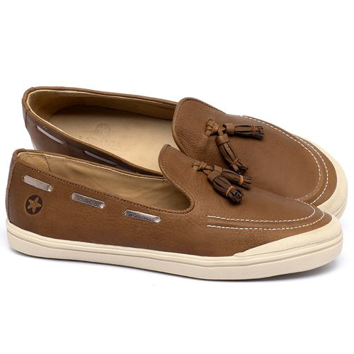 Laranja_Lima_Shoes_Sapatos_Femininos_Tenis_Cano_Baixo_em_Couro_Caramelo_-_Codigo_-_3751_1