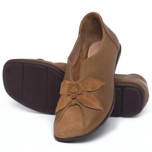 Laranja_Lima_Shoes_Sapatos_Femininos_Sapatilha_Bico_Quadrado_em_Couro_Caramelo_-_Codigo_-_9493_2