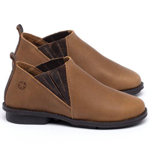 Laranja_Lima_Shoes_Sapatos_Femininos_Bota_Cano_Curto_em_Couro_Caramelo_-_Codigo_-_139045_1