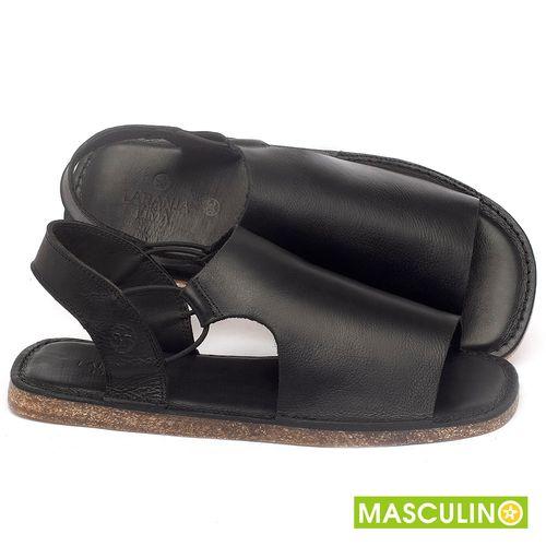 Laranja_Lima_Shoes_Sapatos_Masculinos_Rasteira_em_Couro_Preto_-_Codigo_-_141178_1