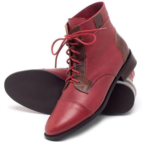 Laranja_Lima_Shoes_Sapatos_Femininos_Bota_Cano_Curto_Salto_de_2_cm_em_Couro_Vermelho_-_Codigo_-_9460_2