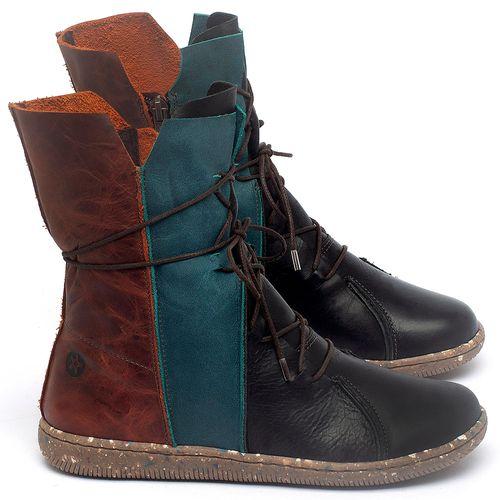 Laranja_Lima_Shoes_Sapatos_Femininos_Flat_Boot_em_Couro_Multicolor_-_Codigo_-_137324_1