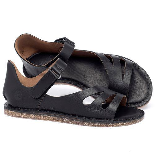 Laranja_Lima_Shoes_Sapatos_Femininos_Sandalia_Rasteira_Flat_em_Couro_Preto_-_Codigo_-_141054_1