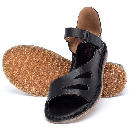 Laranja_Lima_Shoes_Sapatos_Femininos_Sandalia_Rasteira_Flat_em_Couro_Preto_-_Codigo_-_141054_2