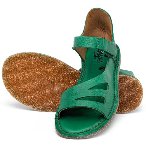 Laranja_Lima_Shoes_Sapatos_Femininos_Sandalia_Rasteira_Flat_em_Couro_Verde_-_Codigo_-_141054_2