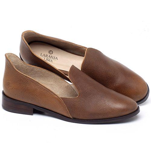 Laranja_Lima_Shoes_Sapatos_Femininos_Sapato_Laranja_Lima_Shoes_Salto_de_2_cm_em_Couro_Caramelo_-_Codigo_-_9467_1