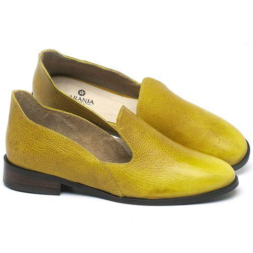 Laranja_Lima_Shoes_Sapatos_Femininos_Sapato_Laranja_Lima_Shoes_Salto_de_2_cm_em_Couro_Amarelo_-_Codigo_-_9467_1