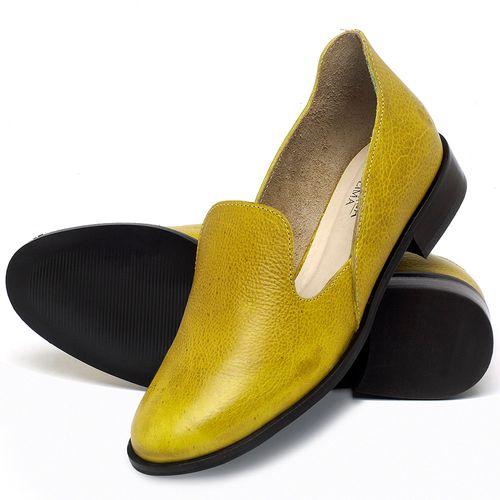 Laranja_Lima_Shoes_Sapatos_Femininos_Sapato_Laranja_Lima_Shoes_Salto_de_2_cm_em_Couro_Amarelo_-_Codigo_-_9467_2