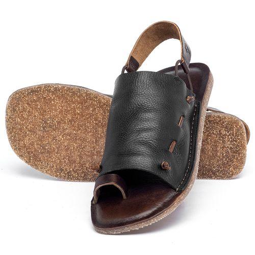 Laranja_Lima_Shoes_Sapatos_Femininos_Sandalia_Rasteira_Flat_em_Couro_Preto_-_Codigo_-_141154_2