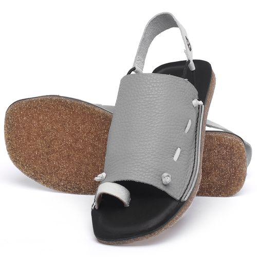 Laranja_Lima_Shoes_Sapatos_Femininos_Sandalia_Rasteira_Flat_em_Couro_Cinza_-_Codigo_-_141154_2
