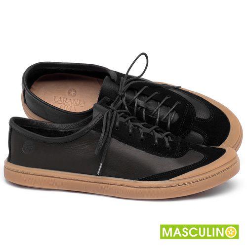 Laranja_Lima_Shoes_Sapatos_Masculinos_Tenis_Masculino_Cano_Baixo_em_Couro_Preto_-_Codigo_-_141177_1