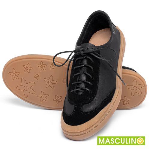 Laranja_Lima_Shoes_Sapatos_Masculinos_Tenis_Masculino_Cano_Baixo_em_Couro_Preto_-_Codigo_-_141177_2