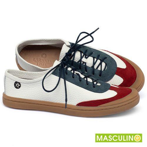 Laranja_Lima_Shoes_Sapatos_Masculinos_Tenis_Masculino_Cano_Baixo_em_Couro_Multicolor_-_Codigo_-_141177_1