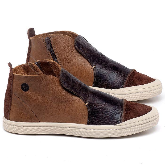 Laranja_Lima_Shoes_Sapatos_Masculinos_Tenis_Masculino_Cano_Alto_em_Couro_Marrom_-_Codigo_-_141086_1