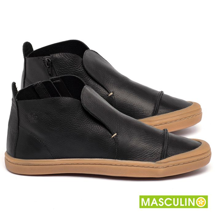 Laranja_Lima_Shoes_Sapatos_Masculinos_Tenis_Masculino_Cano_Alto_em_Couro_Preto_-_Codigo_-_141086_1