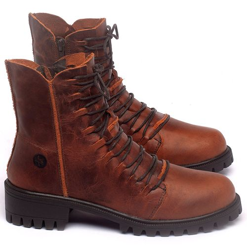 Laranja_Lima_Shoes_Sapatos_Femininos_Bota_Cano_Curto_Salto_de_4_cm_em_Couro_Laranja_-_Codigo_-_137246_1