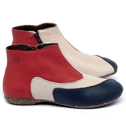 Laranja_Lima_Shoes_Sapatos_Femininos_Flat_Boot_em_Couro_Multicolor_-_Codigo_-_148037_1