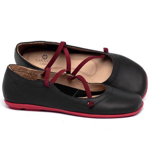 Laranja_Lima_Shoes_Sapatos_Femininos_Sapatilha_Bico_Quadrado_em_Couro_Preto_-_Codigo_-_9471_1