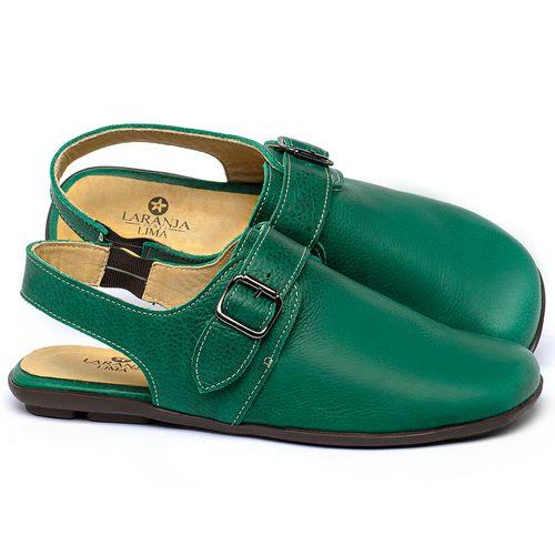 Laranja_Lima_Shoes_Sapatos_Femininos_Sapatilha_Bico_Quadrado_em_Couro_Verde_-_Codigo_-_9472_1
