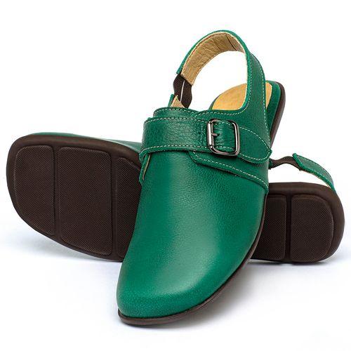 Laranja_Lima_Shoes_Sapatos_Femininos_Sapatilha_Bico_Quadrado_em_Couro_Verde_-_Codigo_-_9472_2