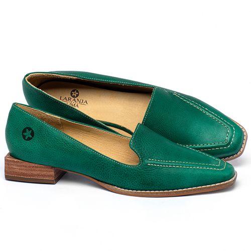 Laranja_Lima_Shoes_Sapatos_Femininos_Sapato_Laranja_Lima_Shoes_Salto_de_3_cm_em_Couro_Verde_-_Codigo_-_9484_1