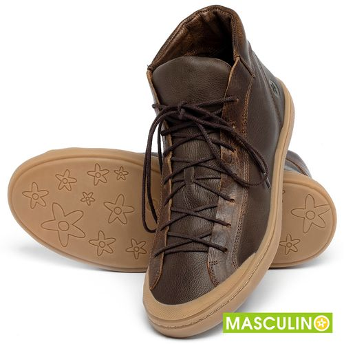 Laranja_Lima_Shoes_Sapatos_Masculinos_Tenis_Masculino_Cano_Alto_em_Couro_Marrom_-_Codigo_-_141141_2