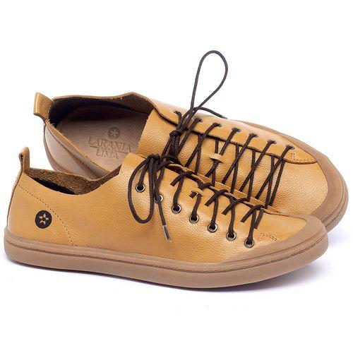 Laranja_Lima_Shoes_Sapatos_Masculinos_Tenis_Masculino_Cano_Baixo_em_Couro_Amarelo_-_Codigo_-_141142_1