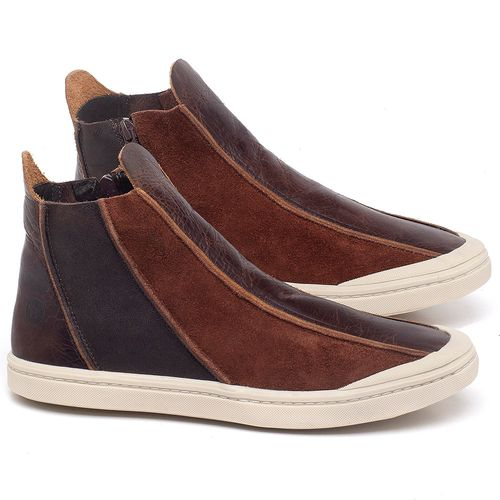 Laranja_Lima_Shoes_Sapatos_Masculinos_Tenis_Masculino_Cano_Alto_em_Couro_Marrom_-_Codigo_-_141140_1
