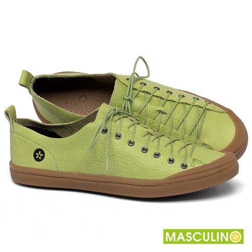 Laranja_Lima_Shoes_Sapatos_Masculinos_Tenis_Masculino_Cano_Baixo_em_Couro_Verde_-_Codigo_-_141142_1