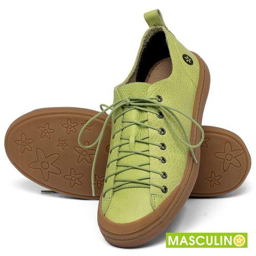 Laranja_Lima_Shoes_Sapatos_Masculinos_Tenis_Masculino_Cano_Baixo_em_Couro_Verde_-_Codigo_-_141142_2