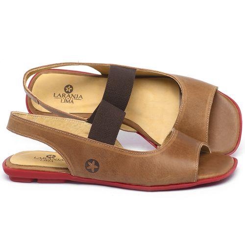 Laranja_Lima_Shoes_Sapatos_Femininos_Sapatilha_Peep_Toe_em_Couro_Caramelo_-_Codigo_-_9501_1