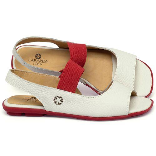Laranja_Lima_Shoes_Sapatos_Femininos_Sapatilha_Peep_Toe_em_Couro_Off-White_-_Codigo_-_9501_1