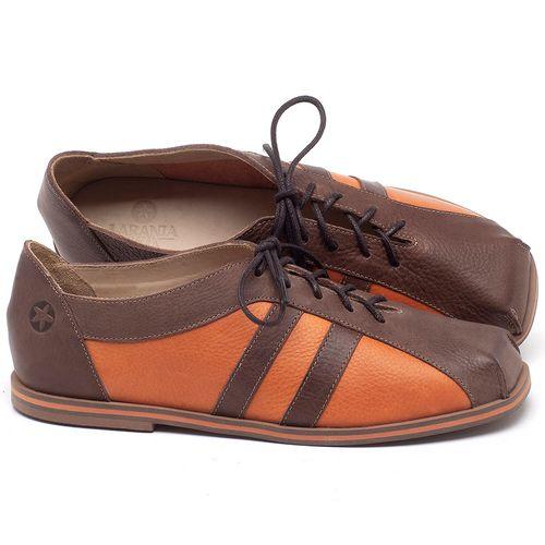 Laranja_Lima_Shoes_Sapatos_Femininos_Sapatilha_Bico_Quadrado_em_Couro_Laranja_-_Codigo_-_3058_1