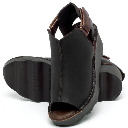 Laranja_Lima_Shoes_Sapatos_Femininos_Anabela_Tratorada_Salto_de_Frente_2_cm_e_Atras_5_cm_em_Couro_Preto_-_Codigo_-_141007_2