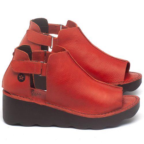 Laranja_Lima_Shoes_Sapatos_Femininos_Anabela_Tratorada_Salto_de_Frente_2_cm_e_Atras_5_cm_em_Couro_Vermelho_-_Codigo_-_141007_1