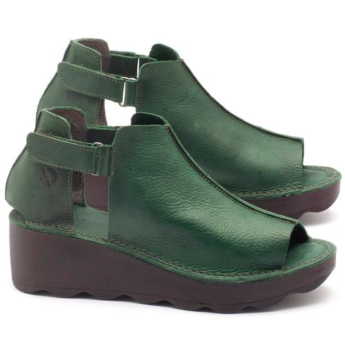 Laranja_Lima_Shoes_Sapatos_Femininos_Anabela_Tratorada_Salto_de_Frente_2_cm_e_Atras_5_cm_em_Couro_Verde_-_Codigo_-_141007_1